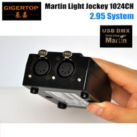 TIPTOP vendedor caliente de 5 Pin USB controlador USB DMX Martin LightJockey software de interfaz DMX 1024 canales de la mesa Equipo de Iluminación