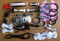 Electro Sex Toys Kit BDSM unisexe choc électrique Nipple Clamps Plug Anal électrostimulation Clitoris clip Fétiche Sex Toys électrique