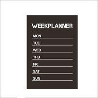 Heißer Verkauf neue Design Woche Planer Tafel abnehmbare Vinyl Wand Aufkleber Tafel Aufkleber Nurse Freies Verschiffen