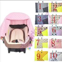 INS Multifuncional Fox Enfermagem Infantil tampa de assento do carro Chevron Zigzag Algodão Transportadora Do Bebê máscara pano Bebê Assento de Carro Dossel bebê cobertor