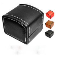 Luxury Watch Boxes PU leather watch boxes Mens For Watch Box Woman's Men Watches Boxes Papers Three color optional CY-88