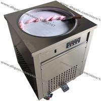Бесплатная доставка из нержавеющей стали 110 в 220 В электрический 50 см тайский сковорода мороженое прокат йогурт машина Жареное мороженое ролл чайник
