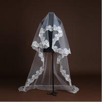 Cheap tulle белые bridal weits горячие продажи пальцами длина одного слоя аппликация кромки свадебные платья аксессуары