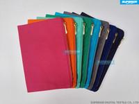 Yeni Katı Renkler% 100 Pamuk Kanvas Makyaj Çantası ile Yüksek Kalite Altın Metal Blank Kozmetik Çantası ile Eş Zipper Astar 8 Colors Zip