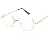 Alloy Glasses Frame Semi- Rimless on Top Rim Eyeglasses for M...