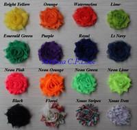 """Gratis EE. UU. EPacket / CPAP 30y 28 colores 1.5 """"mini petite chic shabby chiffon rose flower trim para niñas accesorios para el cabello"""