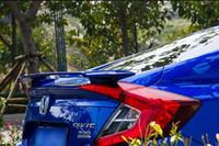 matériel ABS fort de haute qualité avec de la peinture de couleur aile arrière Spoiler pour Honda Civic berline 2016-2020