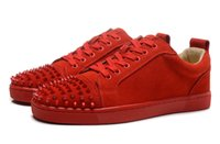 Cheap red bottom sneakers for men 27 colors with Spikes blac...