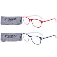 Mulheres Óculos de Leitura Novo Simples e Elegante PC frame Primavera Dobradiças Leitores 2 Pares / pacote