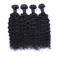 100% brasileiro virgem malaio peruano mongol cambojano indiano Jerry cabelo encaracolado 100% feixes de cabelo brasileiro melhor cabelo humano pode ser tingido