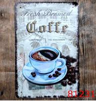 CAFÉ Sinais De Lata Do Vintage Retro Sinal De Metal Antigo Imitação De Ferro Placa de Pintura Decoração Da Parede do Bar Café Pub Loja de Tinta Casa