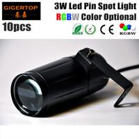 Precio barato 10Pcs / Lot 3W LED Pin del punto de luz Color Blanco viga de punto LED Efecto de tormenta para el disco Bola de cristal llevó la iluminación de la etapa de TP-E20