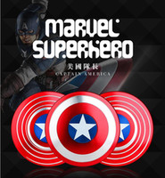 Fidget Spinner Captain America Spinners Metal Shield Liga de alumínio de alta qualidade Hand Fidget Spinners Decompression Novelty Toy