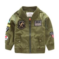 2017 Spring Autumn Jackets for Boy Coat Bomber Jacket Army G...