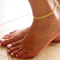 Bohemian Ok Halhal Altın / Gümüş Ton Ayak Bileği Bilezik Ayak Zinciri Yalınayak Sandalet Gotik Takı