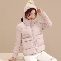 Mori Girl Winter Solid Warm Parka Stand Collar Pocket Long S...