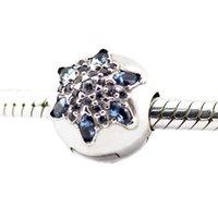 Kristallisierte Schneeflocke Multi-Colored Clear CZ Clip Perlen Silber Perlen für Pandora Armband für Frau Perlen DIY Schmuck für Frau Wholeasle