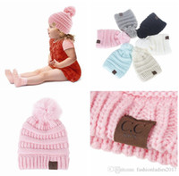 New Kids CC Beanie CC Knitted Hats with ball Chunky Skull Ca...