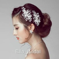 Free Shipping Crystal Silver Golden Color Leaf Pearl Wedding...