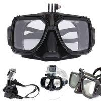 Freeshipping 다이빙 장비 카메라 마운트 실리콘 다이빙 마스크 스쿠버 수영 Gopro Hero 2 3 4 + 4 스포츠 카메라