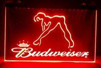 B02 Budweiser 이국적인 댄서 스트리퍼 바 펍 클럽 3D 표지판 LED 네온 라이트 로그인 홈 장식 공예품