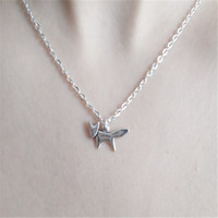 Wholesale- silver fox necklace handmade necklace fox jewelle...