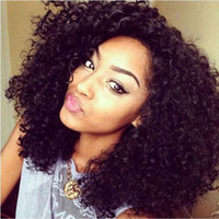 Hot selling curly wig simulation human hair kinky curly afro...