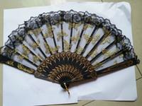 """Ventagli di plastica piegati a mano in plastica per donne - Stile palazzo spagnolo / cinese / giapponese Restauro di antiche forme 9.0 """"(23cm)"""