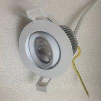 En Stock 6W AC240V COB Driverless LED Down Light Pas Besoin Driver Dimmable LED Spotlight Blanc Froid 60 ° LED Encastrable Lighting15pcs