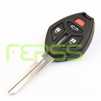 Yeni Kesilmemiş Yedek Shell Uzaktan anahtar Kutu Fob 4 Düğme Mitsubishi Eclipse için