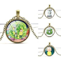 Good A+ + Rick and morty series gem necklace gift WFN348 (wit...
