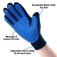 100 Pz Best Selling Hair Remover Pet Grooming Glove con Five Ding Deshedding Spazzola per la pulizia Dolce Massaggio Pettine Bath Strumento per cani Cani