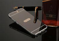 Pour HTC One A9 M8 M9 Couverture De Cas En Aluminium Téléphone Cadre En Métal Acrylique Couverture Arrière Pour HTC 826 M10 Miroir Cas Pare-chocs Fundas