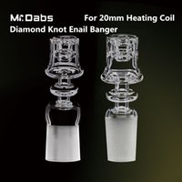 Mr Dabs Electric Diamond Knot Quartz Nail Double Stack Frosted Joint para bobina de calentamiento de 20 mm para plataformas petrolíferas
