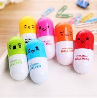 Neuheit Pille Versenkbare Kugelschreiber Nette Vitamin Kugelschreiber Kreatives Briefpapier Kinder Geschenke Bürobedarf Förderung Produkte