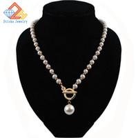 Articoli promozionali! Moda imitazione collana di perle stringa CCB / croce / collana, gioielli ragazza collana di perle, spedizione gratuita