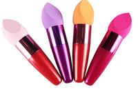 Base de maquillaje Cepillo de esponja Cosméticos Pinceles Oval Drop Liquid Cream Base Corrector Marca cepillo Con Regalo Gratis