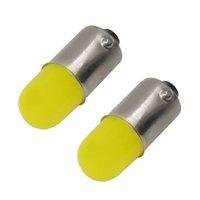 100X BA9S 3D COB LED Işık T4W Oto Marker Park Ampul 363 233 T11 Araç İç Okuma Kubbe Lambası Plaka Işık 12V 100pcs Beyaz