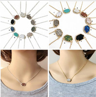 Luxury brand Druzy necklaces Jewelry For women 10 colors Gol...