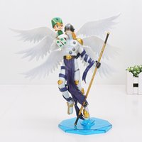 20cm Digimon Adventure Figure Takaishi Takeru Angemon Angewomon YagamiPVC Figura de Acción Digimon Colletion Model Toy Boxed