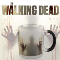 Walking Dead Mugs Color Change Cup Blood Palm Shadow Tumbler...