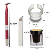 الجملة شبه الدائم الحاجب ماكياج الوشم مجموعات مجموعة Microblading أقلام دليل الوشم + 18 دبابيس الإبر + حلقة الحبر كأس + الوشم الحبر