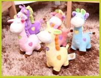 Bonito Dos Desenhos Animados Recheado de Pelúcia Girafa Brinquedos Das Crianças Dos Miúdos Girafa Brinquedo Criativo Presente Pensativo Bebê Stuffed Animal Brinquedos Presentes