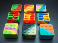 100 x Recipiente de concentrado de silicona grande 4 + 1 ACEITE DE CALA DE CALA MULTI MULTI UTILIZAR Frascos de almacenamiento, colores surtidos