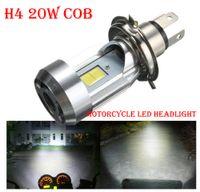 5 ADET H4 20 W 2000LM Motosiklet LED Far Far KOBİ CHIPS Yüksek / Düşük Çift Işın Süper Parlak Beyaz Ideal Ideal Değiştir stok Halojen Lamba 6000K