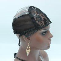 5 adet / grup Dantel Kap Peruk Yapmak için Peruk Net Peruk Caps Stokta Peruk Kapaklar İnsan Saç Siyah Kadınlar