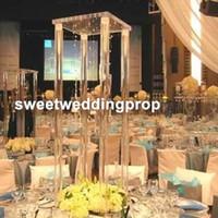 40 см / 100 см) новый стиль акриловые прозрачные канделябры центральные цены на свадьбу декор украшение стола