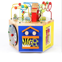 New Funy Wooden Hexahedron Multifunctional Wise Box String B...