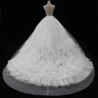 الفاخرة قطار طويل تنورات الزفاف الزفاف تنورات الكرة ثوب كرينولين هوب جودة عالية P419005