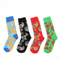Colour crew cotton happy socks men women british style casua...